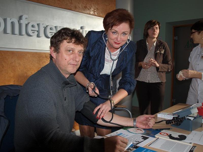 """Akcja profilaktyczna pt.  """"Rzuć palenie"""" w Specjalistycznej Przychodni Przemysłowej Prof - Med Sp z o. o. należącej do Grupy ANWIL we Włocławku"""