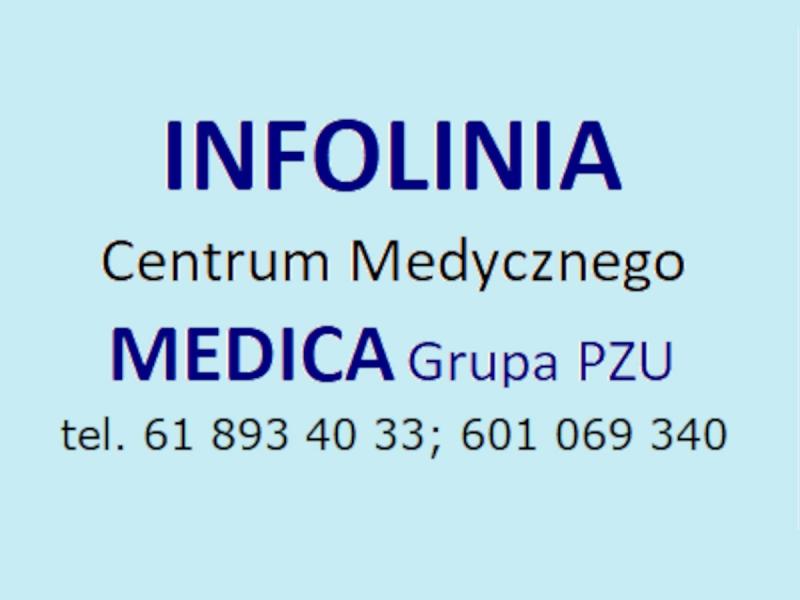 INFOLINIA Centrum Medycznego MEDICA Grupa PZU